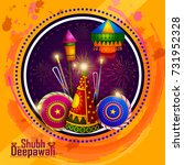 happy diwali light festival of... | Shutterstock .eps vector #731952328