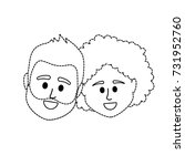 dotted shape couple head... | Shutterstock .eps vector #731952760