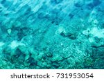 Background Of Transparent Sea...