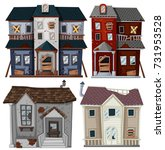 old houses in very bad... | Shutterstock .eps vector #731953528
