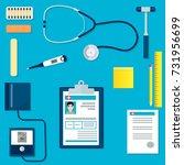 medical equipment or tools set. ... | Shutterstock .eps vector #731956699