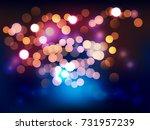 blinking light in night. vector ... | Shutterstock .eps vector #731957239