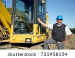 engineer with hard hat in...   Shutterstock . vector #731958154