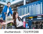 asian couple traveler with... | Shutterstock . vector #731959288
