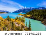 rocky mountains of canada in... | Shutterstock . vector #731961298