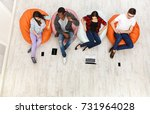 multiethnic young people ... | Shutterstock . vector #731964028