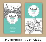 coffee product label with green ... | Shutterstock .eps vector #731972116