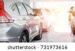 new japanese cars in showroom... | Shutterstock . vector #731973616