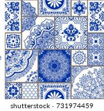 seamless patchwork tile with... | Shutterstock .eps vector #731974459