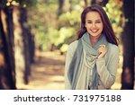 beautiful smiling girl in... | Shutterstock . vector #731975188