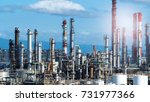 petroleum plant or oil chemical ... | Shutterstock . vector #731977366