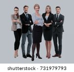 group of smiling business... | Shutterstock . vector #731979793