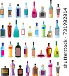 basic vector alcohol bottles  | Shutterstock .eps vector #731982814