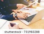 teamwork startup business team... | Shutterstock . vector #731983288
