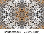 gray with brown and white...   Shutterstock . vector #731987584