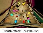 sci fi escape room riddle... | Shutterstock . vector #731988754