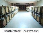 wine barrel background | Shutterstock . vector #731996554