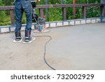 pouring concrete slab | Shutterstock . vector #732002929