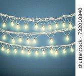 christmas lights concept.... | Shutterstock .eps vector #732010840