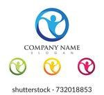 human character logo sign | Shutterstock .eps vector #732018853