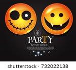 happy halloween smiling... | Shutterstock .eps vector #732022138