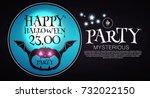 happy halloween poster template.... | Shutterstock .eps vector #732022150