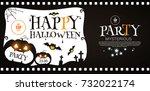 happy halloween poster template.... | Shutterstock .eps vector #732022174