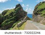 road at batan island  batanes ...   Shutterstock . vector #732022246
