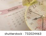 time and planning concept ... | Shutterstock . vector #732024463