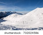 Skiing Area In The Dolomites...
