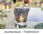 candle holder  decorated with... | Shutterstock . vector #732041014