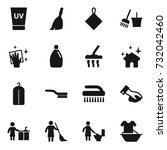 16 vector icon set   uv cream ... | Shutterstock .eps vector #732042460