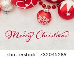 merry christmas greeting card... | Shutterstock . vector #732045289