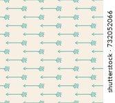 seamless pattern arrow art... | Shutterstock .eps vector #732052066
