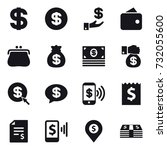16 vector icon set   dollar ... | Shutterstock .eps vector #732055600