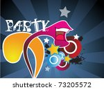 template flyer for party | Shutterstock .eps vector #73205572
