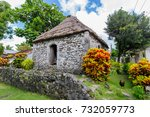 traditional stone house at... | Shutterstock . vector #732059773