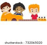 vector illustration of guitar... | Shutterstock .eps vector #732065020