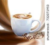 liquid chocolate  caramel or... | Shutterstock .eps vector #732071953