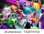 different rolls of colorful... | Shutterstock . vector #732074710
