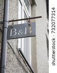 Small photo of Hotel Bed and Breakfast Accommodation Sign