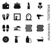 16 vector icon set   wallet ...   Shutterstock .eps vector #732078568