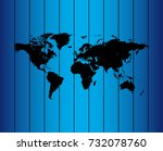 map of world | Shutterstock .eps vector #732078760