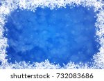 blue christmas background with... | Shutterstock . vector #732083686
