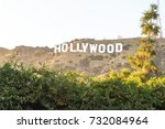 los angeles  usa   august 20 ... | Shutterstock . vector #732084964