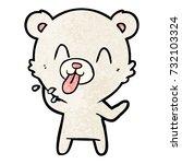 rude cartoon polar bear... | Shutterstock .eps vector #732103324