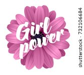 vector illustration  girl power ... | Shutterstock .eps vector #732106684