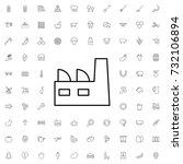 factory icon. set of outline... | Shutterstock .eps vector #732106894