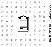 clipboard icon. set of outline... | Shutterstock .eps vector #732109900