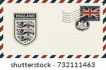 vector envelope with coat of... | Shutterstock .eps vector #732111463